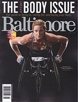 Baltimore magazine cover