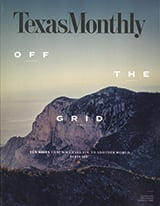 Texas Monthly magazine cover