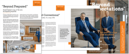 Center Spread pages in Super Lawyers Magazine
