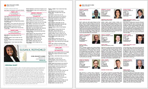 Standard Profile page in Super Lawyers Magazine