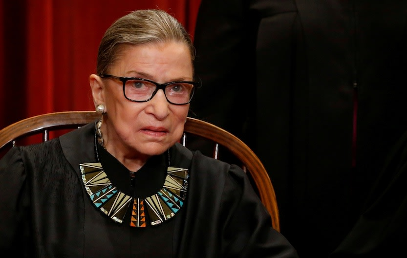 Ruth Bader Ginsburg gets ready for her close-up.