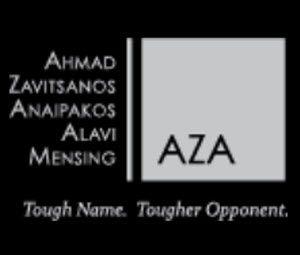 Ahmad, Zavitsanos, Anaipakos, Alavi & Mensing P.C., or AZA law firm logo