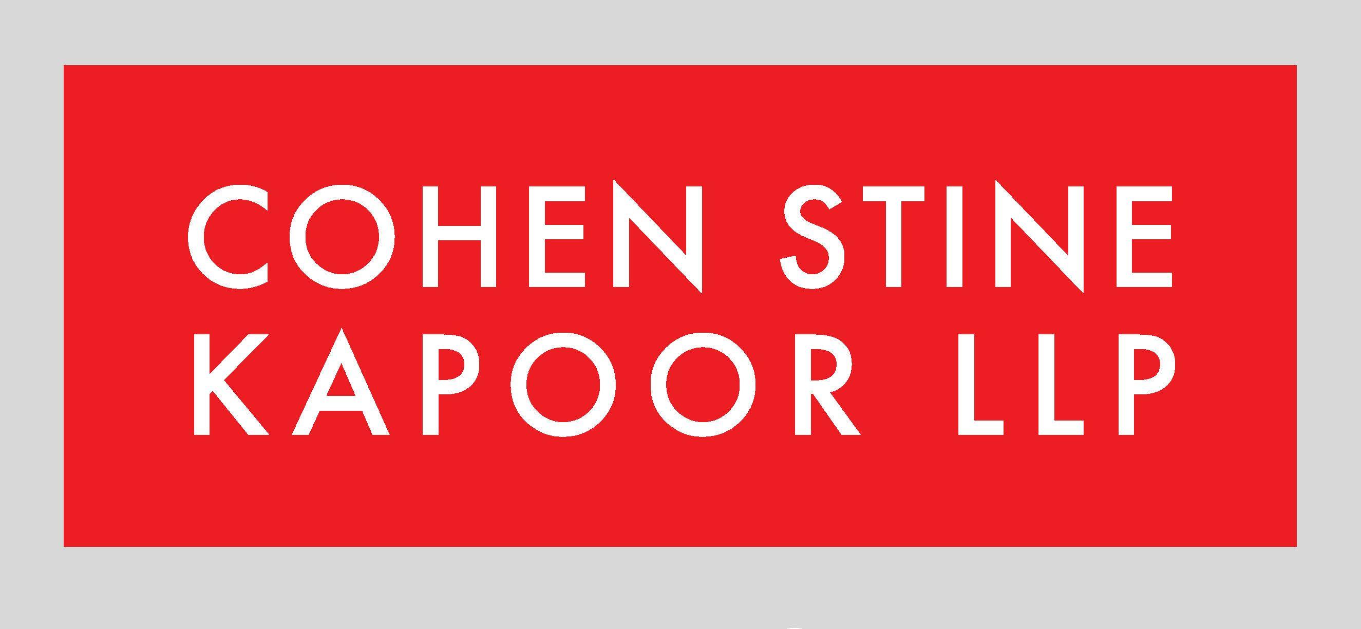 Cohen Stine Kapoor LLP law firm logo